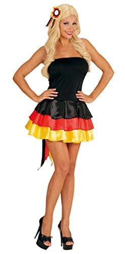 Karneval-Klamotten Kostüm Deutschland Kleid Miss Deutschland Frauen WM Frauen Fußball 2019 Dame Kostüm Karneval Fanartikel Fußball Damenkostüm Größe 38/40