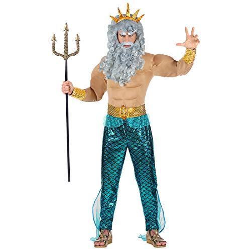 Für Kostüm Poseidon Herren - NET TOYS Witziges Neptun-Kostüm für Herren | Größe M (50) | Originelle Männer-Verkleidung Poseidon geeignet für Mottoparty & Fasching