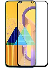 Amazon Brand - Solimo Full Body Tempered Glass for Samsung Galaxy M30s (Black) with Installation kit
