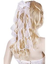 Flora Fille Enfant Communion Voile Serre Tête Barrette Bandeaux Fleur cheveux