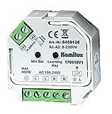 Universal LED Licht Dimmer für dimmbare LED Leuchtmittel oder Halogenlampen bis 400Watt zur Montage in Schaltersteckdosen
