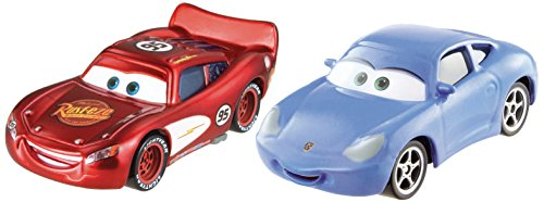 Mattel CDP71 - Disney Cars Die-Cast 2er Pack Sally & Radiator Springs Lightning McQueen