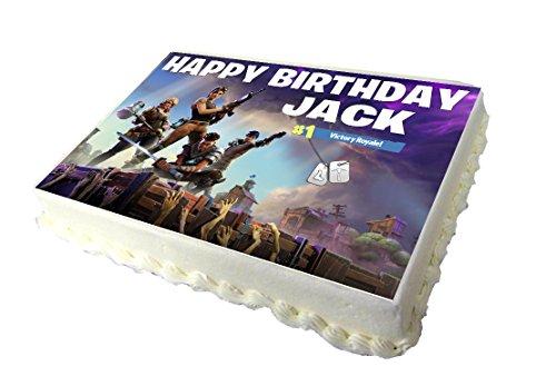 Fortnite A4 Birthday Cake Topper