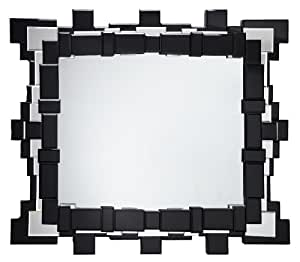 Premier housewares glass facet wall mirror 90 x 70 x 1 5 for Miroir 90 x 70