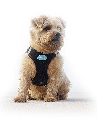 CURLI Brustgeschirr Plush Vest AIR-MESH brown für Hunde S (35 – 40 cm) - 3
