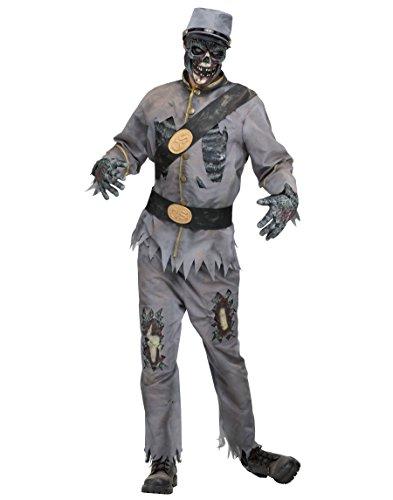 Fun World Costumes Zombie-Soldat Halloween-Kostüm grau-schwarz Einheitsgröße