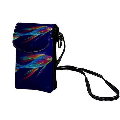 ertige Leder-Kartentasche Tragbare Geldbörse Leichte Umhängetasche Brieftasche für Frauen, Männer, Kinder ()