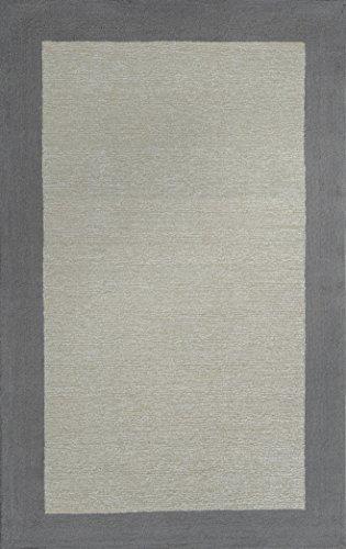 blendfreies Licht handgefertigt Teppiche Wolle & Viskose Grau Elfenbeinfarben rm0077Bordüre Teppiche, Wolle, grau, 6' X 9' - 6' Wolle Teppich