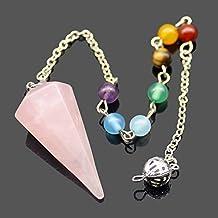 SODIAL Aura punto de exploracion metafisica colgante de adivinacion espiritu pulseras chakra cristal tratamiento: purpura