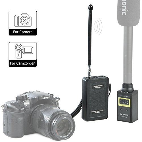 Saramonic Professional Portable VHF Digitales Wireless-System, Protable Receiver und Plug-on-Sender für Mikrofon für Nachrichten, Gathering & Reporting