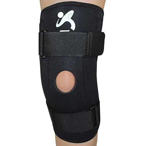 SANJIN neoprene ginocchiera con molla in acciaio Soggiorni - Supporto manica e compressione per tutti gli sport. Adatto Uomini e Donne(KS003) (XL)