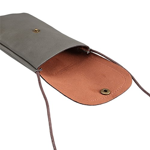 wkae Schutzhülle Case & Cover Universal Vertikal PU Leder Case/Leder Tasche mit String für iPhone 6S Plus, Samsung Galaxy Note 5& Note4/S7/S6Edge +, Huawei P8und P7/HONOR 6 grau
