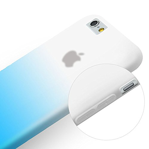 iPhone 6 Plus Coque,COOLKE [Jaune] Un changement graduel TPU Silicone Housse Coque Etui Gel Case Cover Pour Apple iPhone 6 Plus (5.5 inch) Blue