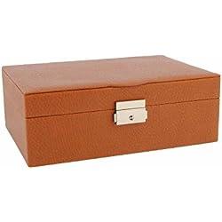 Rectangular jewelry box with 1 inner tray
