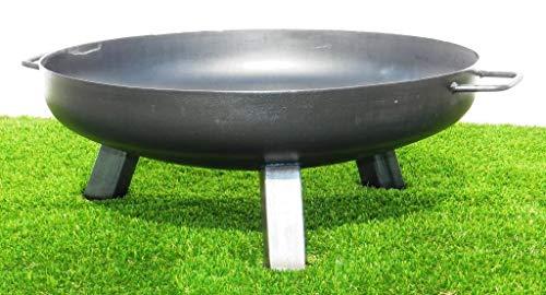 Feuerschale aus Stahl 650 mm / mit 3 Beinen und 2 Griffen