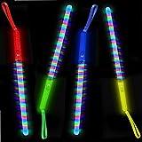 German Trendseller - 6 x LED Regenbogen - Leucht - Stab - Mix ┃ 19 cm ┃ Blinklicht ┃ Mitgebsel ┃ Kindergeburtstag ┃ Flashing Leuchtstab ┃ 6 Stück