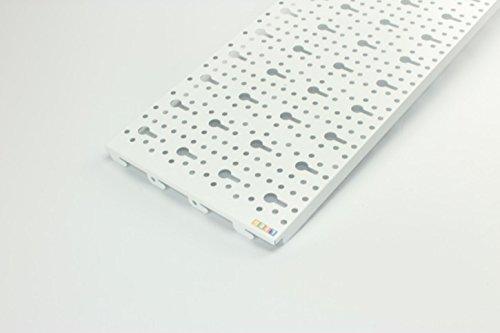 Element System Heimwerker-System-Wand-Stahl, lochplatte, FE, 2 Stück, weiß ähnlich RAL 9003, 11400-00004 (Systeme-element)