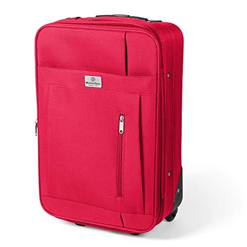 MasterGear Kabinen-Trolley mit Handgepäckmaßen: 55 x 35 x 20 cm für ALLE Fluggesellschaften, rot