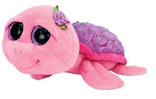 "Ty Beanie Boos Rosie - Purple Rose Turtle 6"" by Ty"