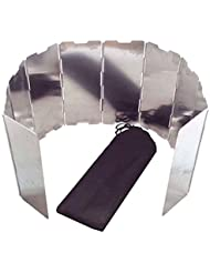 AOTU 10 Plaques Pare-vent en alliage d'aluminium pliable pour Camping Cuisine de plein air Cuisiniere a gaz Vent ecrans pare-brise