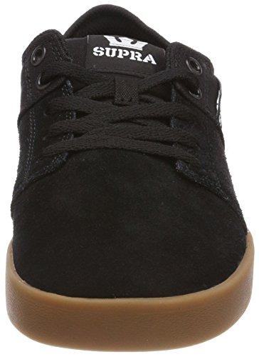Supra Stacks II, Sneakers Basses Homme Noir (Black-gum)