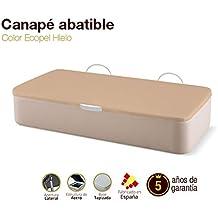 Canapé Abatible Tapizado Apertura Lateral Tapa 3D Ecopel Hielo 90x180cm Envio y montaje gratis
