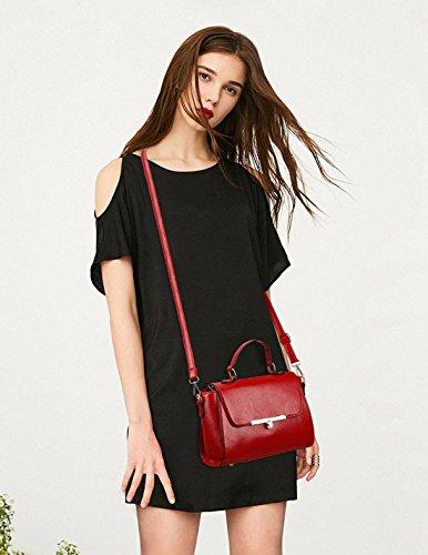 NICOLE&DORIS Neue Mode Damen Handtaschen Umhängetasche Tasche Crossbody Klein Tasche PU Rot Rot