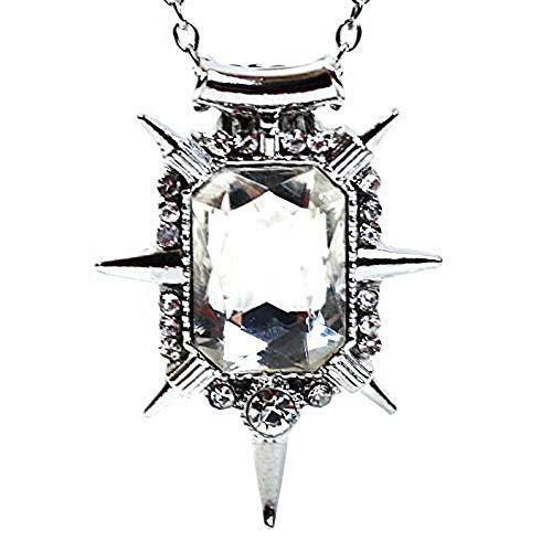 Lovelegis Kette für Frauen - Damen Halskette - Der Zauberer Von Oz - Südliche Hexe - Once Upon a Time - Transparenter kristall - Silberne Farbe (Mädchen Glinda Kostüm)