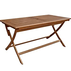 Table En Bois Massif De Jardin Pliante 70 X 120 Cm Amazon