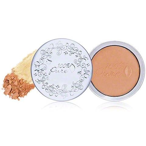 100% Pure Naturkosmetik Healthy Flawless Skin Foundation Powder mit SPF 20 - Peach Bisque, Net wt. 0.316 oz / 9 g