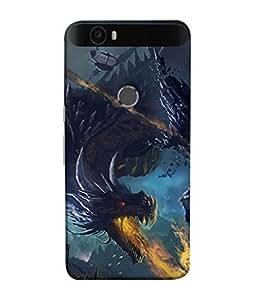 PrintVisa Red Eyed Dragon 3D Hard Polycarbonate Designer Back Case Cover for Huawei Nexus 6P :: Huawei Google Nexus 6P