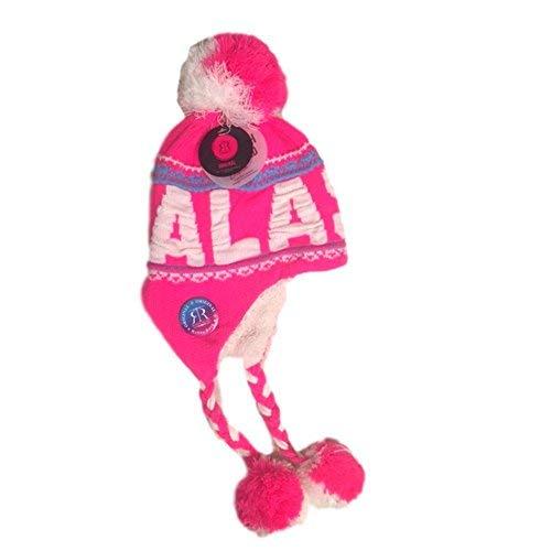 Robin Ruth Alaska Helmet Hat W/Tassle Quality Pink bianco