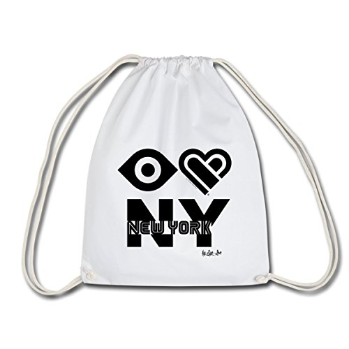 Spreadshirt Eye Love New York J'Aime NY Sac de sport léger