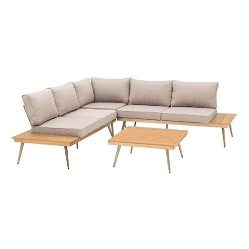 OUTLIV. Loungemöbel Outdoor Fraser Island Lounge-Ecke 4-teilig Aluminium/Kunststoff-Polywood/Textil Gartenmöbel Design Gartenlounge modern wetterfest