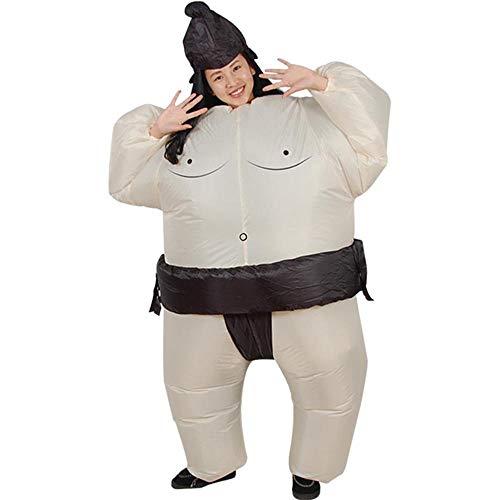 MIMI KING Sumo Aufblasbare Kostüm-Cosplay Für Erwachsene/Kinder, Halloween Lustige Leistung,Adult