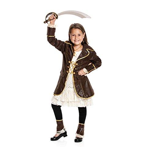 Kostümplanet Piratin-Kostüm Kinder Piraten-Kostüm Mädchen Faschingskostüm Größe 116