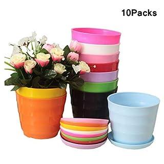 ACMEDE Kunststoff Pflanztöpfe für Blumen Blumentöpfe Set, Farbige Blumenübertopf für Balkon, Garten, Home, Büro