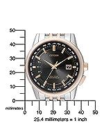 Citizen Hombre Radio Controlled-Reloj de pulsera analógico cuarzo, revestimiento de acero inoxidable CB0156-66E de Citizen