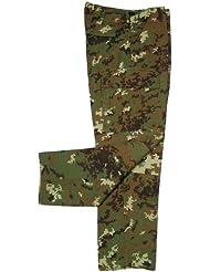 MFH Hombre Pantalones de combate US BDU Cremallera Stop - vegetato, XL