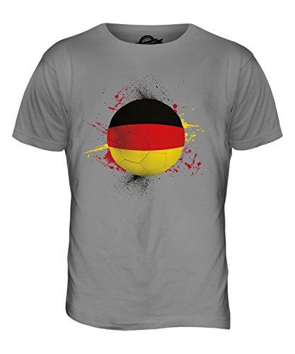 CandyMix Deutschland Fußball Herren T Shirt Hellgrau