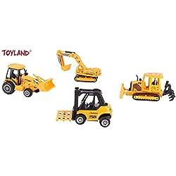 Toyland Jeu de 4 pièces pour véhicules de Chantier, pièces moulées - Pièces et Accessoires de déménagement