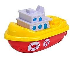 Simba World Of Toys Mini Boat-inch 13 cm Plastic Wind-Up Sea, Multi Color