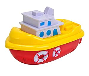 Simba World Of Toys Mini Boat-inch 13 cm Plastic Wind-Up Sea, Multi Color,Multi designed
