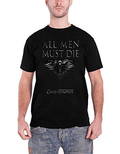 28304c62 Game of Thrones All Men Must Die raven Oficial de los hombres nuevo T Shirt