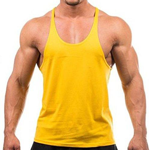 MIOIM® Camisetas De Tirantes Deportivo Gimnasio Fitness Running Tops Camisetas T-Shirts Chaleco Suelto para Hombre
