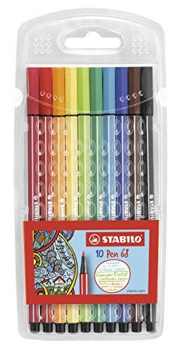 Premium-Filzstift - STABILO Pen 68-10er Pack - mit 10 verschiedenen Farben
