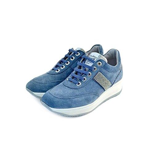 Scarpe interactive donna Andrea Morelli numero 35 LB71301JEANS in camoscio azzurro jeans