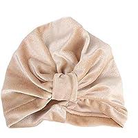 Huhu833 Baby Turban Kleinkind Hut Kinder Junge Mädchen Einfarbig Indien SAMT Hut Schöne weiche Hut