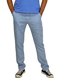 MLP010 Herren Jungen Leinen Hose Slim Fit 100% Leinen beige schwarz weiss braun blau S/48 M/50 L/52 XL/54 XXL/56.