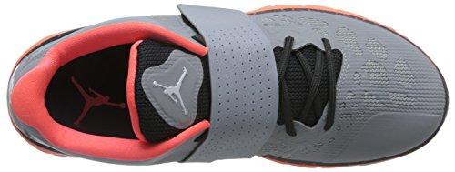 Nike  Jordan Flight Flex Trainer 2, Herren Basketballschuhe Gris / Blanco / Naranja (Wlf Gry/White-Mtlc Hmtt-Hypr O)